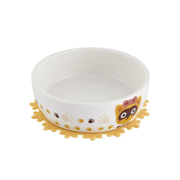 Ceramic Pet Bowl with Free Placemat for Food and Water Bowls Pet Feeders Two Patterns
