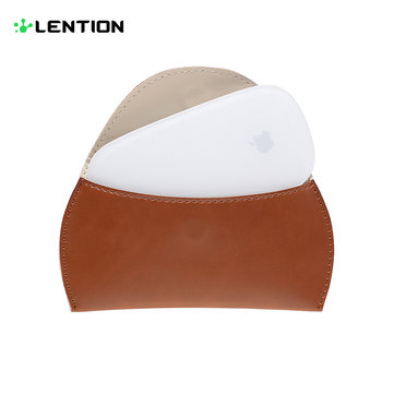 Lention Wireless Mouse Leather Bag Pouch For MacBook Air Pro