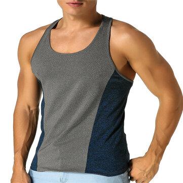 Men's Vest Sleeveless T-shirt Jersey Stretch Cotton Fitness Sports Vest