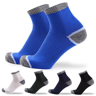 Men Sport Breathable Cotton Middle Tube Socks Casual Elastic Adjustable Socks