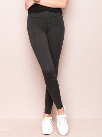 Casual Solid Color Elastic High Waist Leggings Slim Knit Pants