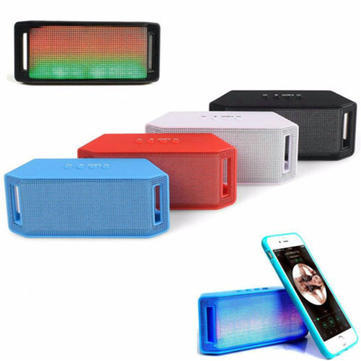 ML-28U Mini LED Bluetooth Speaker Wireless Bass TF FM With Mic For Mobile Phone Tablet PC