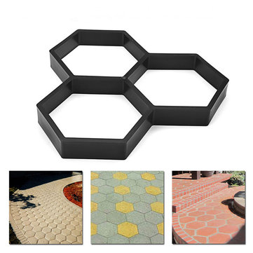 Garden Buildings Garden Paving Brick For Diy Plastic Path Maker Mould Concrete Molds Paving Cement Brick Moulds Stone Road Concrete Molds Tool Bracing Up The Whole System And Strengthening It Paving Molds