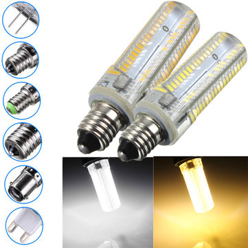 E17/E11/E12/E14/BA15D/G4/G9 3.5W 152 SMD 3014 Dimmable Warm White/White Corn Light Lamp AC220V