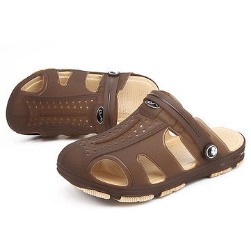 Men Breathable Hollow Outs Beach Slippers Sandals Rainy Days Shoes