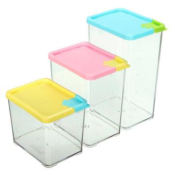 Kitchen Storage Box Case Organizer Food Grain Bean Rice Dried Fruit  Container Dispenser