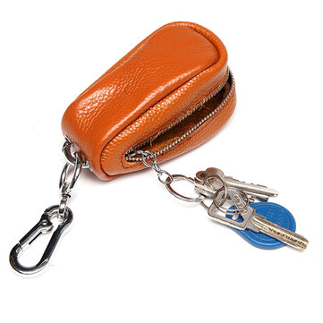 Women Men Genuine Leather Car Key Holder House Key Holder