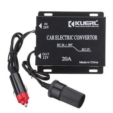 DC 24V To DC 12V Car Power Supply Converter Conversion Device Max Output 20A
