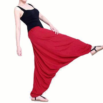 Pantalones caen de la entrepierna pantalones harén pantalones sueltos deportes de ocio bohemio Yoga mujeres de la aptitud