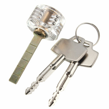 Pick Visable Padlock Transparent Cross Lock for Locksmith Practice Training Skill Lock Picks Tools