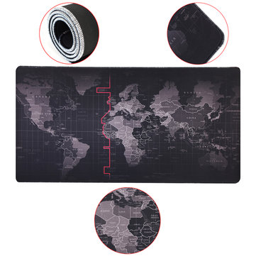 800x400x4mm Large Non-Slip Laptop Computer Keyboard World Map Mouse Desktop Pad Mat