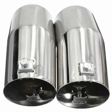 Car Stainless Steel Exhaust Tip Pipe Tail Reat Muffler For VW Golf Jetta Bora