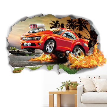 Miico 3D Creative PVC Wall Stickers Home Decor Mural Art Removable Car Wall Decals