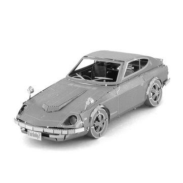 Aipin DIY 3D Puzzle Stainless Steel Model Kit Mini Coupe Silver Color