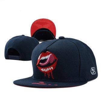 Unisex Men Women Printed Lip Tongue Pattern Hip-hop Baseball Cap Adjustable Snapback Hat