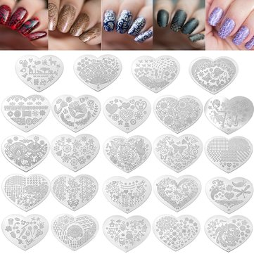 Nail Art Image Stamp Stamping Plates Manicure Template Flower Bird