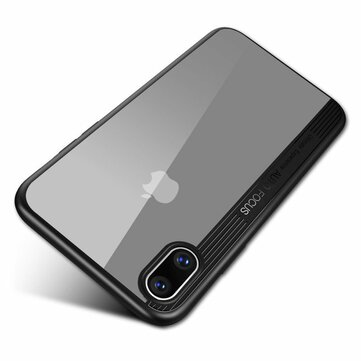 Bakeey Custodia Trasparente Chiara Anti Urto Ibrido PC TPU per iPhone X