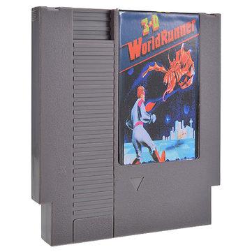 3-D Battles of WorldRunner 72 Pin 8 Bit Game Card Cartridge for NES Nintendo