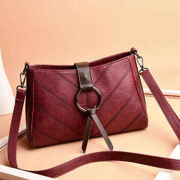 Women Stitching Leisure Plaid Crossbody Bag