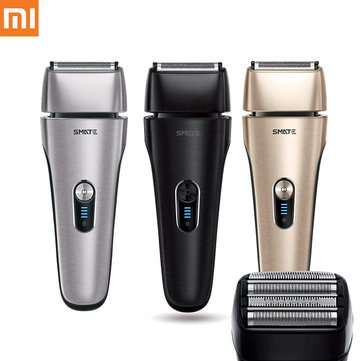XIAOMI SMATE IPX7 Waterproof Fast Charging Electric Shaver Reciprocating Razor Men Barber Tool