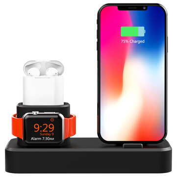 3 In 1 Charging Dock Station Phone Holder For iPhone/Apple Watch/Apple AirPods