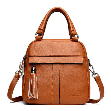 Women Leisure Solid Handbag Multi-function Backpack