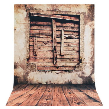 35x23 Inches Wooden Window Pattern Retro Wall Art Huge Silk Poster Home Decor