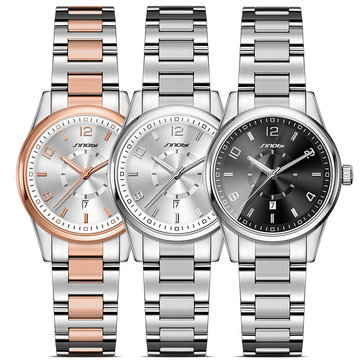 SINOBI 8126 Fashion Women Watches 3AMT Waterproof Round Dial Casual Ladies Stainless Steel Band Watch