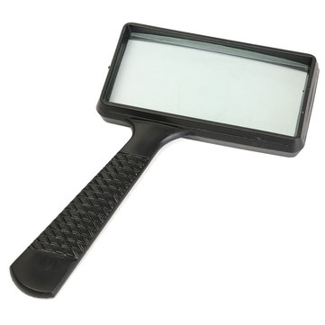 Large Handheld Rectangular Magnifier Magnifying Glass Loupe For Reading