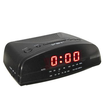VST-905 Rouge LED Affichage Réveil radio numérique AM / FM Réveil Buzzer Snooze Fonction