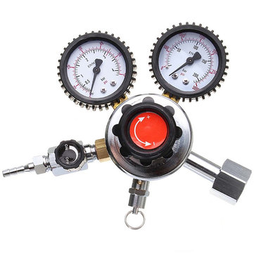G1/2 DIY Dual Gauge CO2 Gas Regulator Carbon Dioxide DRAFT Beer Soda Homebrew CO2 Regulators