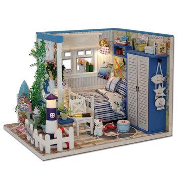 Hoomeda M025 DIY Dollhouse Miniatuur De Starry Night De Starry Sea For Decoration Toy