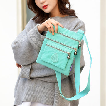 Women Solid Waterproof Bag Casual Crossbody Bag Shoulder Bag