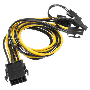 20AWG 8Pin to Dual 8pin Power Cable For Mining Machine Video Graphics Card