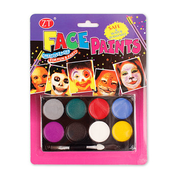 8 Colors Body Painting Pigment Halloween Makeup Paste Face Paint Cream Suit Children