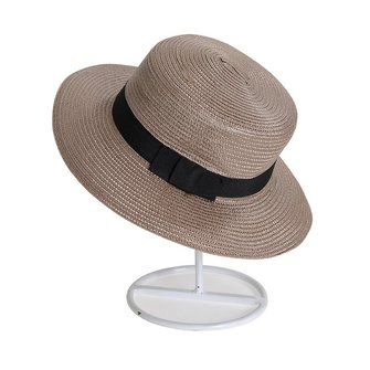 Unisex Men Women Straw Fedora Hat Trilby Bowknot Panama Summer Jazz Beach Sun Cap
