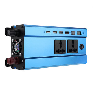 3000W LED Display Solar Power Inverter Modified Sine Wave DC 12V/24V To AC 220V Dual Screens