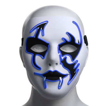 Halloween Mask LED Luminous Flashing Face Mask Party Masks Light Up Dance Halloween Cosplay