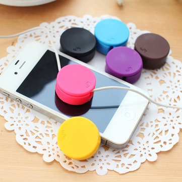 Honana HN-CH016 7 Colors Headphone Organizer Winder Phone Screen Wipe Multifunctional Cord Organizer