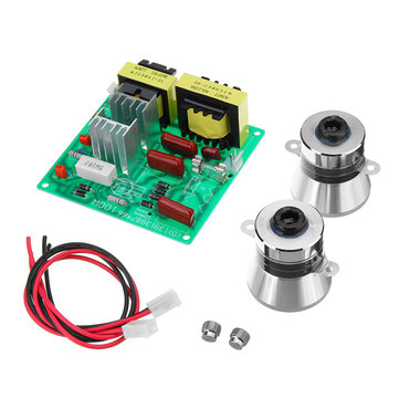 AC 220V 100W Ultrasonic Cleaner Driver Power Board With 2Pcs 50W 40K Transducer Square