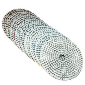 5 Inch 50-6000 Grit Diamond Polishing Pad Wet Dry Sanding Disc for Marble Concrete Granite Glass