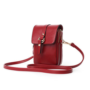 Women Faux Leather Mini Phone Bags Crossbody Bags