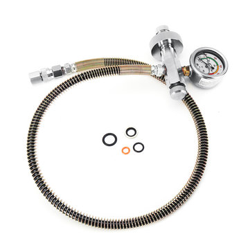 DIN Air Filling Charging Hoses With Gauge Quick Coupler Adapter Fittings 6000PSI