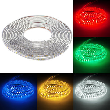 Waterproof IP67 10M 600SMD 5050 Red/Blue/Green/Warm White/White/RGB LED Light Strip 220V