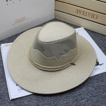 Men Outdoor Mesh Travel Sunshade Cowboy Hat