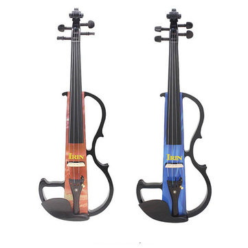 IRIN 4/4 Portable Electric Violin With Bow Rosin Carry Case For Beginner