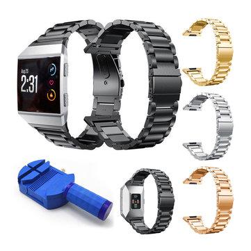 Punho de aço inoxidável com pulso Banda Substituição de pulseira para relógio iônico Fitbit