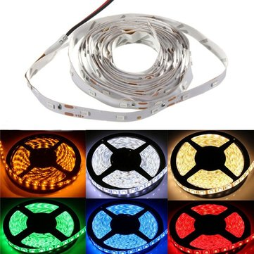 2M 9.6W 60 SMD 3528 Non-Waterproof Flexible Light Strip Lamp 12V DC Cutable Decorative Light