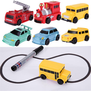 Magic Pen Inductive Car Toy Automatic Follow-Line Road You Draw Kids Toys Novelties Toys