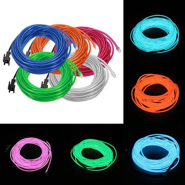 EL Electroluminescent Tape LED Car Decoration Light Interior Atmosphere Lamp 1/2/3/4/5m